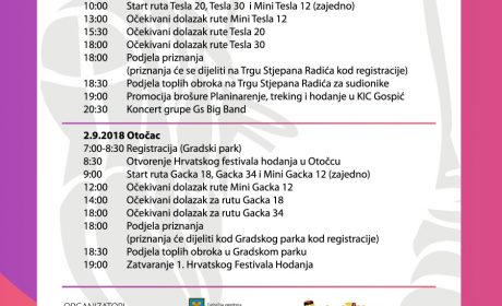 1st Croatian Walking Festival Programme